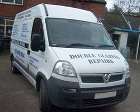decorative glass & glazing co ltd white branded van