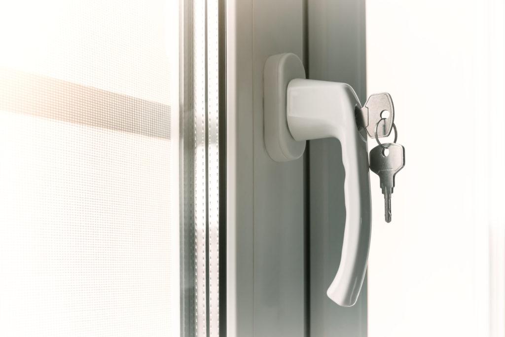 locked uPVC window